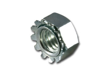 M8 Barbed Nut Zinc Plated